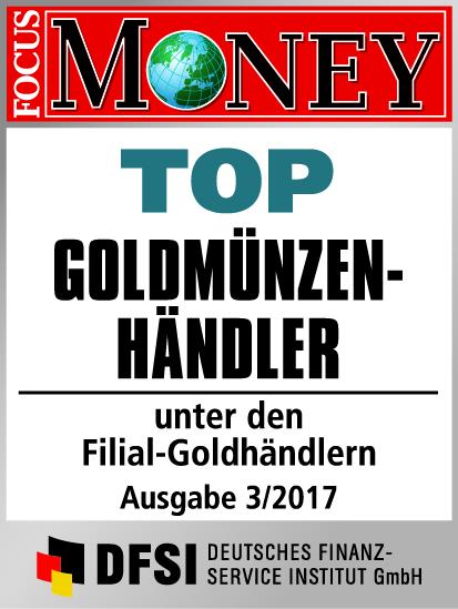 Auvesta - TOP Goldmünzenhändler unter den Filial-Goldhändlern Ausgabe 3/2017