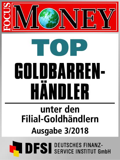 Auvesta - TOP Goldbarrenhändler unter den Filial-Goldhändlern Ausgabe 3/2018