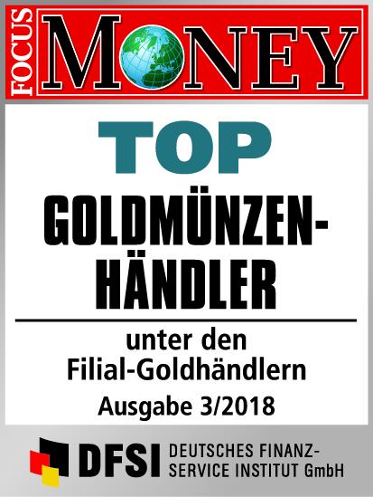 Auvesta - TOP Goldmünzenhändler unter den Filial-Goldhändlern Ausgabe 3/2018