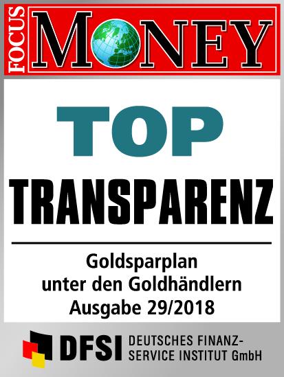 Auvesta - TOP Transparenz - Goldsparplan unter den Goldhändlern Ausgabe 29/2018