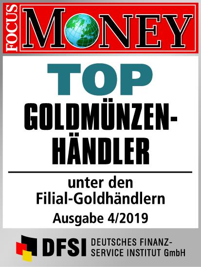 Auvesta - TOP Goldmünzenhändler unter den Filial-Goldhändlern Ausgabe 4/2019