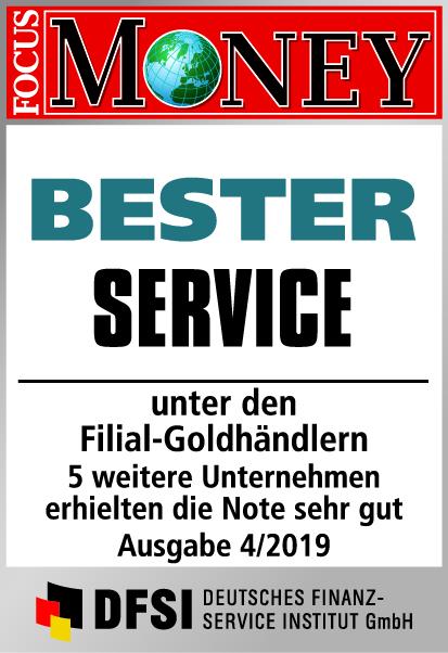 Auvesta - BESTER Service unter den Filial-Goldhändlern Ausgabe 4/2019