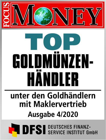 Auvesta - TOP Goldmünzenhändler unter den Goldhändlern mit Maklervertrieb Ausgabe 4/2020