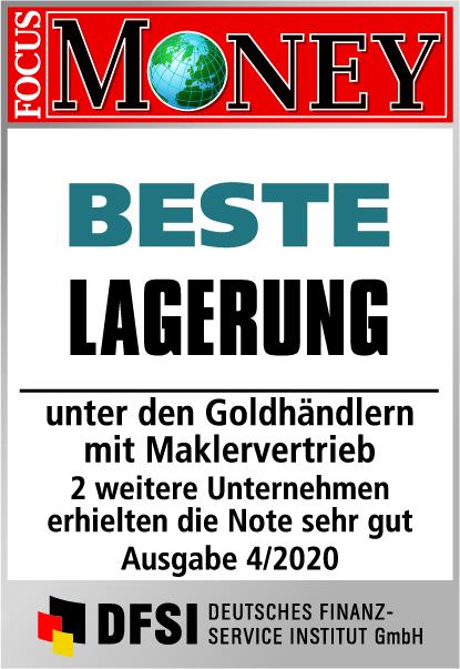 Auvesta - BESTE Lagerung unter den Goldhändlern mit Maklervertrieb Ausgabe 4/2020
