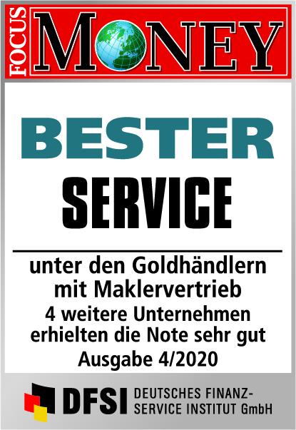 Auvesta - BESTER Service unter den Goldhändlern mit Maklervertrieb Ausgabe 4/2020