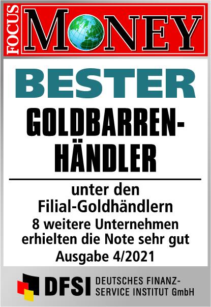 Auvesta - BESTER Goldbarren-Händler unter den Filial-Goldhändlern Ausgabe 04/2021