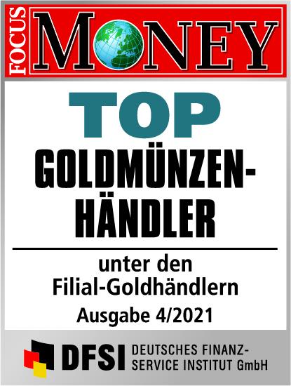 Auvesta - TOP Goldmünzenhändler unter den Filial-Goldhändlern Ausgabe 04/2021