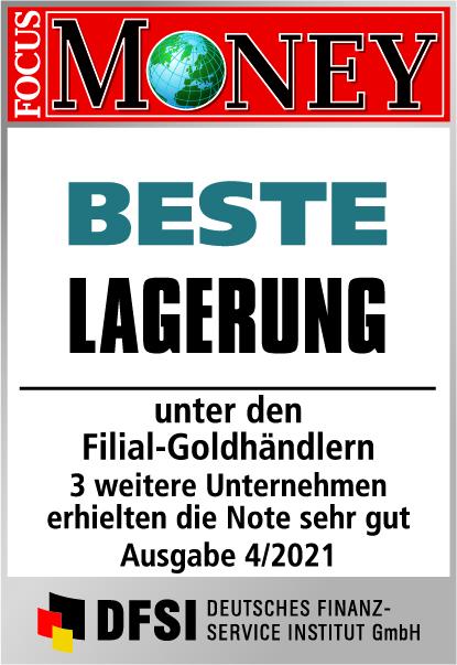 Auvesta - BESTE Lagerung unter den Filial-Goldhändlern Ausgabe 04/2021