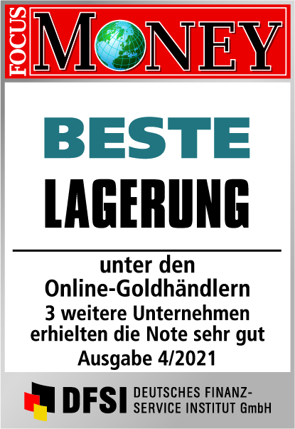 Auvesta - BESTE Lagerung unter den Online-Goldhändlern Ausgabe 04/2021