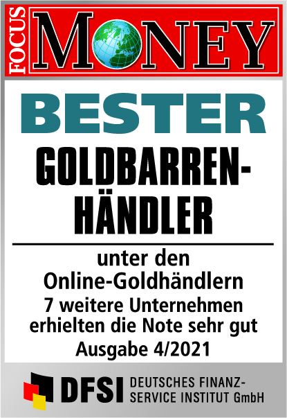 Auvesta - BESTER Goldbarren-Händler unter den Online-Goldhändlern Ausgabe 04/2021