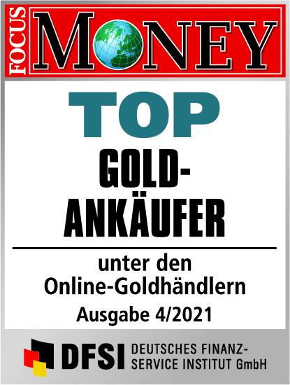 Auvesta - TOP Goldankäufer unter den Online-Goldhändlern Ausgabe 04/2021