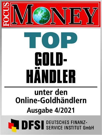 Auvesta - TOP Goldhändler unter den Online-Goldhändlern Ausgabe 04/2021