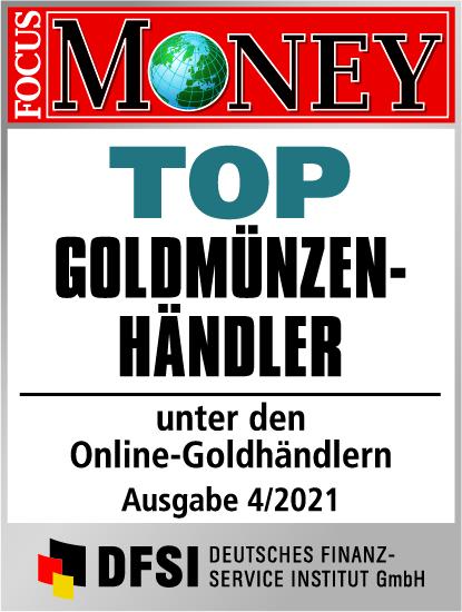 Auvesta - TOP Goldmünzenhändler unter den Online-Goldhändlern Ausgabe 04/2021