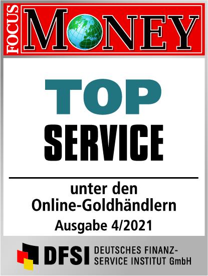 Auvesta - TOP Service unter den Online-Goldhändlern Ausgabe 04/2021