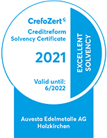 Auvesta Edelmetalle Bonitätszertifikat der Creditreform