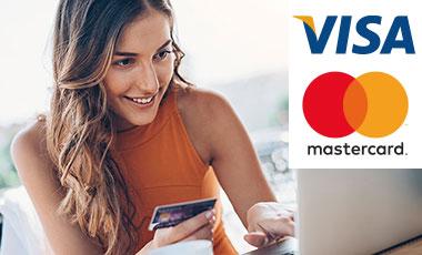 Pague mediante transferencia, domiciliación bancaria, SEPA, la aplicación Sofortüberweisung o cómodamente con VISA o MASTERCARD