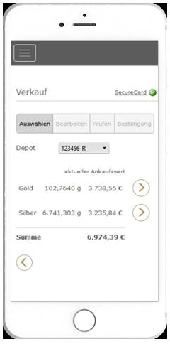 Verkauf - Gold weltweit online auf den Cent genau verkaufen.